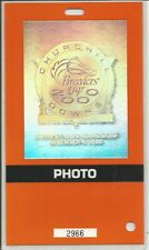 2000 - Breeder's Cup @ Churchill Downs Orange Photographer Pass with neck strap