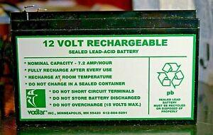 Vexilar 12V, 7.2 amp Rechargeable Battery for Garmin Fish Finder           EUC