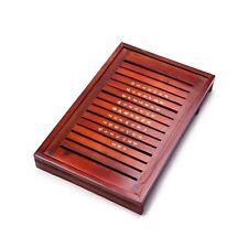 Solid Wood Reservoir & Drainage Type Kung Fu GongFu Tea Table Serving Tray L1...