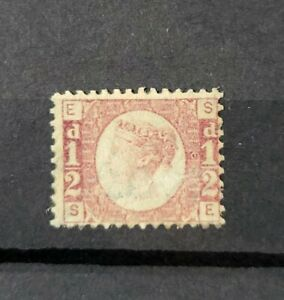 GB QUEEN VICTORIA SG 48 1/2D ROSE RED PL 6 LIGHTLY M/MINT