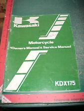 KAWASAKI KDX175-A3 ORIGINAL MOTORCYCLE OWNERS & SERVICE MANUAL vgood