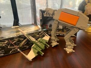 Bandai Revell Star Wars - Lot of 2 - X-Wing & Imperial Walker Model Kits USED