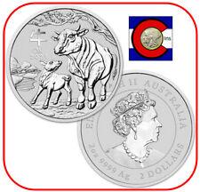 2021 Lunar Ox 2 oz Silver Coin, Series III from Perth Mint in Australia