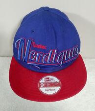 Quebec Nordiques New Era Blue Red Snap Back Baseball Hat Cap