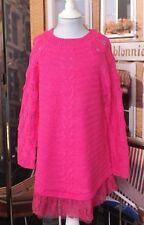 Kinder Mädchen Strickkleid Pullover Long Pulli Gr. 98/104