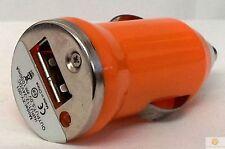 ARANCIONE UNIVERSALE UNICO CAVO USB Auto Sigaretta Accendino Caricabatterie Adapter 1 telefono