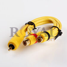 1ft RCA CABLE Y-ADAPTER 1 MALE TO 2 FEMALE