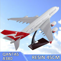 New Qantas A380 Airbus Large Plane Model with Stand 45CM Resin Diecast