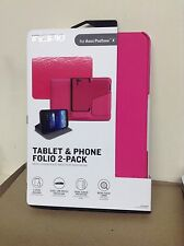 NEW INCIPIO TABLET & PHONE FOLIO 2-PACK CASE FOR ASUS PADFONE X - PINK