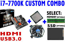 Intel i7-7700K QUAD CORE CPU ASRock B150M-HDS DDR4 Motherboard SSD CUSTOM COMBO