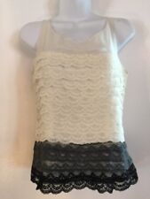 Behnaz Sarafpour for Target Lace & Silk Sleeveless Top Sz S Winter Holiday