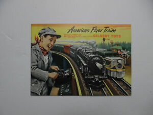 1953 American Flyer Trains A.C. Gilbert Toy Catalog Erector Set Vintage Original