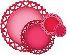 SPELLBINDERS Nestabilities HEART CIRCLES 4 Dies S4-316 Cut Emboss Stencil