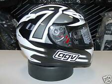 CASCO AGV GP TECH 7 BLACK & WHITE L MOTORCYCLE HELMET AGV HELM CASQUE
