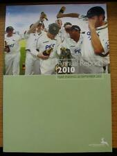 30/09/2010 Cricket: Nottinghamshire CCC, Annual Report. No obvious faults, unles