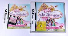 """Nintendo DS JEU """"Barbie et les 3 MOUSQUETAIRES/COMPLET trois"""