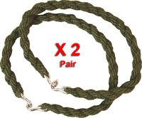 2 Paires Pantalon Torsions Twist Élastique Jambe Liens Armée Cadet Military 2 X