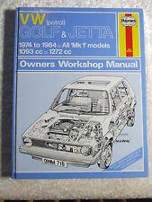 VW VOLKSWAGEN GOLF & JETTA 1974 ~ 1984 HAYNES SERVICE & REPAIR MANUAL 716