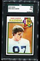 1979 Topps Football #460 DAVE CASPER Oakland Raiders SGC 96 MINT 9