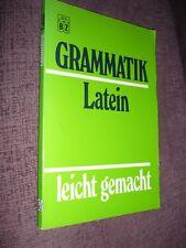 Grammatik Latein - leicht gemacht