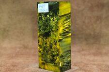 Stabilized Maple Burl Wood knife scales block