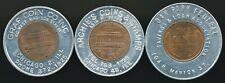 (3) Encased Cents - Chicago & Oak Park, Il - Archie's & Graf Coin +Oak Park S&L