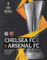 * 2019 EUROPA LEAGUE FINAL - ARSENAL v CHELSEA - OFFICIAL PROGRAMME & POSTER *