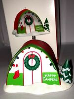 HALLMARK Keepsake 2017 HAPPY CAMPERS Light Up Tent CHRISTMAS ORNAMENT Camping