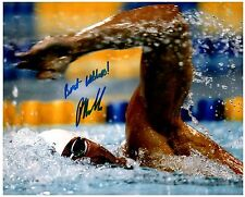 Peter Vanderkaay Signed Autographed Team U.S.A. Olympic Swimming 8x10 Pic. A