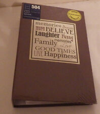 """Pinnacle Photo Album Holds 504 Photos Pictures Size 4x6 New Memories 8.5""""x13.5"""""""