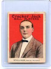 1915 CRACKER JACK #162 GEORGE STALLINGS BASEBALL CARD, BOSTON NATIONALS