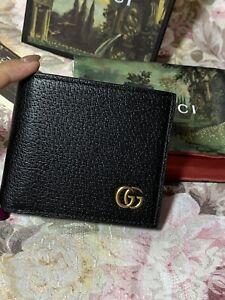 Authentic Gucci marmont men's Bi-fold wallet