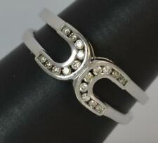 Quality 18ct White Gold & Diamond Stack Cluster Ring d0938