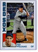 Ted Williams 2019 Topps Update 1984 Topps 5x7 #84-12 /49 Red Sox