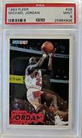 1993 93-94 Fleer Michael Jordan #28, Chicago Bulls, HOF, Graded PSA 9 Mint