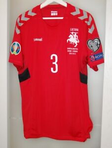 Match worn shirt Lithuania national team Euro 2020 Paderborn Dynamo Germany