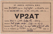 QSL Card ST. JOHN´S ANTIGUA 1935 Funk Karte Radio VP2AT    ( 80516