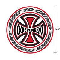 "Independent Truck Company T/C Blaze White Iron Cross Skateboard Sticker 3.5"""