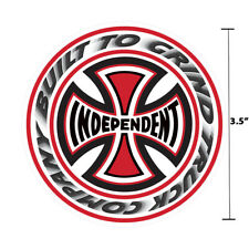 Independent Truck Company T/C Blaze White Iron Cross Skateboard Sticker 3.5""