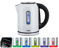 TODO 1.7L Stainless Steel Cordless Kettle Keep Warm Electric Led Water Jug White