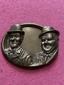 Laurel & Hardy Garden Plaque - Black Country Metal Works