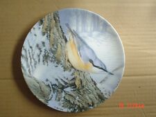 Wedgwood Danbury Mint Collectors Plate WINTER LOOKOUT Nuthatch