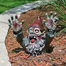 "Zombie Gnombie Gnome Design Toscano Exclusive 10½"" Hand Painted Statue"