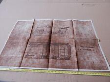 copia cartacea disegno tecnico auto Fiat tipo 501 del 1919