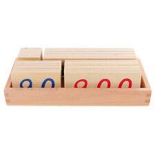 Montessori Mathematics Wooden Small Number Cards 1-9000 Math Learning Toys