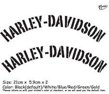 2 Pcs Harley Davidson Stickers Reflective Motorcycle Decals Hulk Best Gift