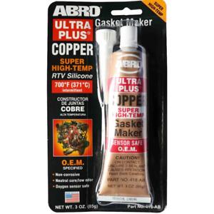 ABRO 418-AB Ultra Plus Copper RTV Super High-Temp Silicone Gasket Maker 85g