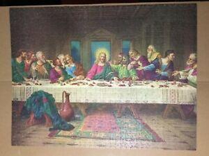 The Last Supper Puzzle 1000 Pc Da Vinci 1977 Milton Bradley 4557 - 100% Complete