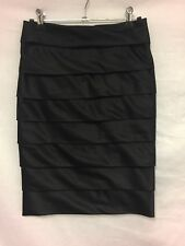 Review black layered skirt size 6 Women's Work/Casual/Cocktail