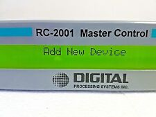 RC-2001 Master Control DPS Digital Processing Systems RS-232/RS-422 Input/Output